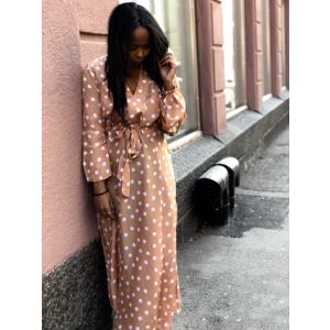 Delicat belted dress - polka dots