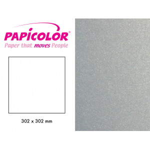 PAPICOLOR 302X302MM - 334 -METALLIC SØLV