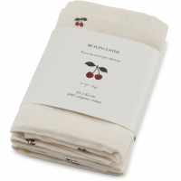 KONGES SLØJD - MUSLIN CLOTHS CHERRY 3-PK