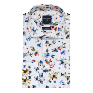 Blomsterprint Cutaway skjorte