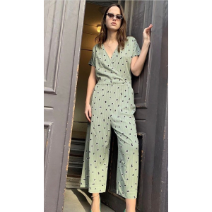 Lined ease jumpsuit