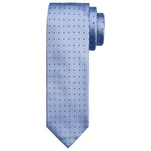 Blått prikket slips