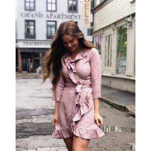 Amelie Dress -pink dot