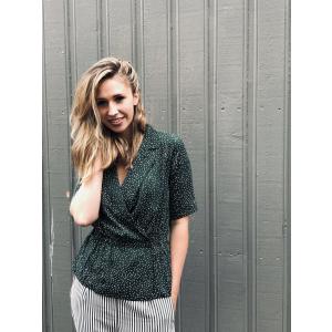 Image wrap blouse