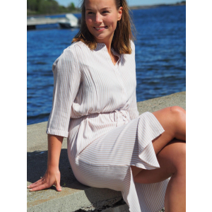 Woven Dress Below Knee
