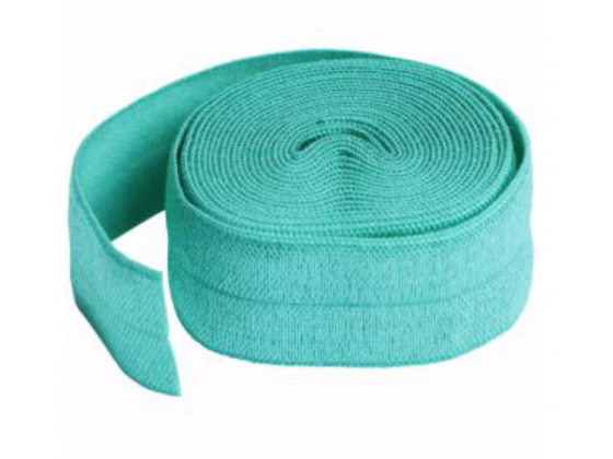 Fold-over Elastic Turquoise 3/4in x 2yd