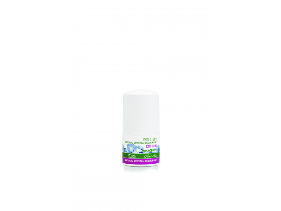 Crystal deodorant roll-on cotton