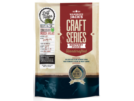 Irish Red Ale - Mangrove Jack's Craft Series with dry hops - 2.2kg