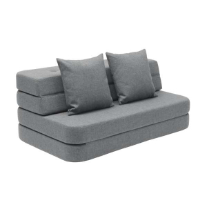 BY KLIPKLAP - MULTIMØBEL KK 3 FOLD SOFA (BLÅRGRÅ/GRÅ)