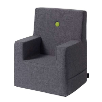 BY KLIPKLAP - KK KIDS CHAIR XL (BLÅGRÅ/GRØNN)