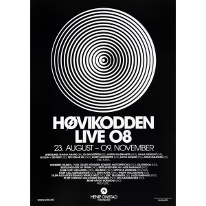 Plakat  Høvikodden live 2008 (svart)