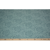 Strikket jaquard dusty mint blomster