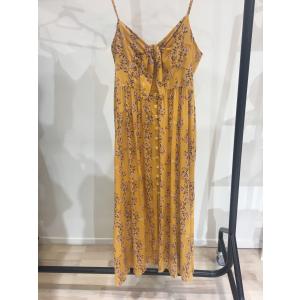 Sirin Foral Bodice Spaghetti Strap Dress