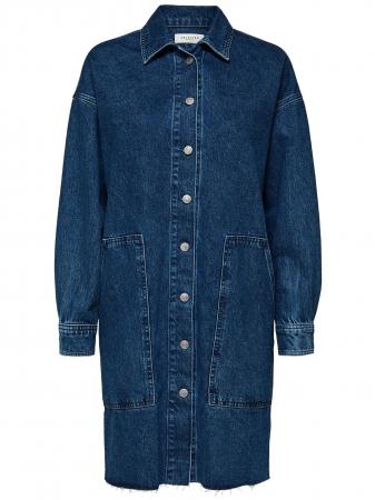 Hanna Long Blue Denim Shirt
