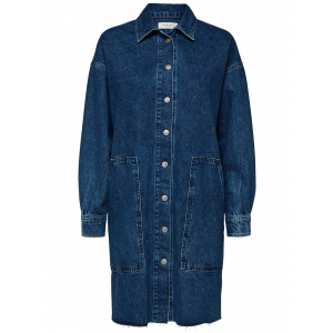Hanna Long Blue Denim Shirt