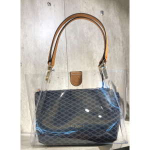 Cristal clear tote leather trimmings