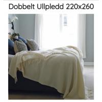 Dobbeltpledd nr400 hvit