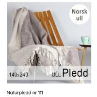 Naturpledd nr 111 140x240 grå/lysgrå