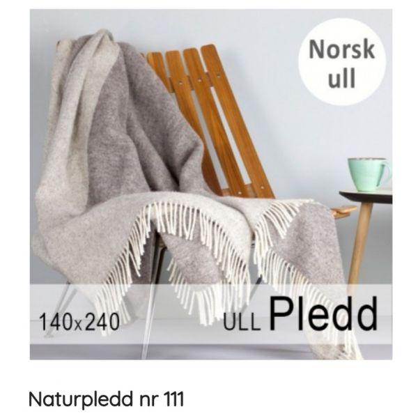 Naturpledd  grå/lysgrå