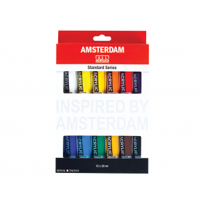 AMSTERDAM ACRYL 20ML SETT 12ASS.