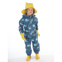 KATTNAKKEN - GARDEN WINTER RAIN SUIT DARK BLUE SNAIL
