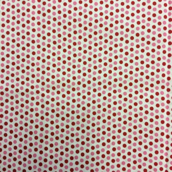Badda bing prikker 65 cm rød-rosa
