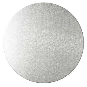 Kakebrett runde, 2pk, Sølv 20cm