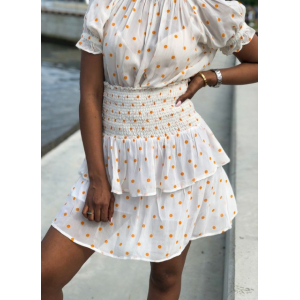 Vera skirt - orange dottie