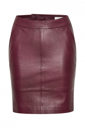 Char Leather Skirt Port Royale