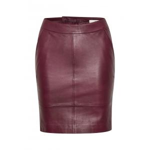 Char Leather Skirt Port Royale