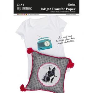 Transferpapir Lyst stoff 5 pk