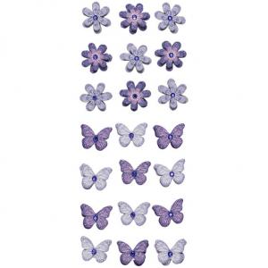 3D stickers Blomst/s.fugl Lill