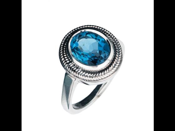 Eva ring, london blue topas