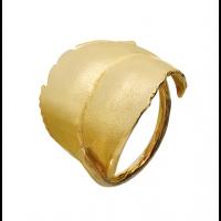 Blad ring, forgylt