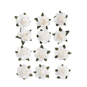 MINIROSER PAPIR WHITE 12 STK