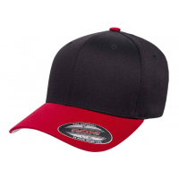flexfit wooly combed 2-tone black/red