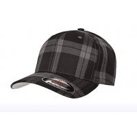 flexfit tartan plaid black/gray