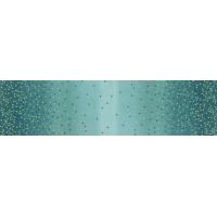 Ombre confetti metallic lagoon
