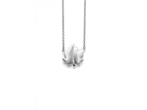 Lønneblad Anheng i sølv 42+3cm kjede