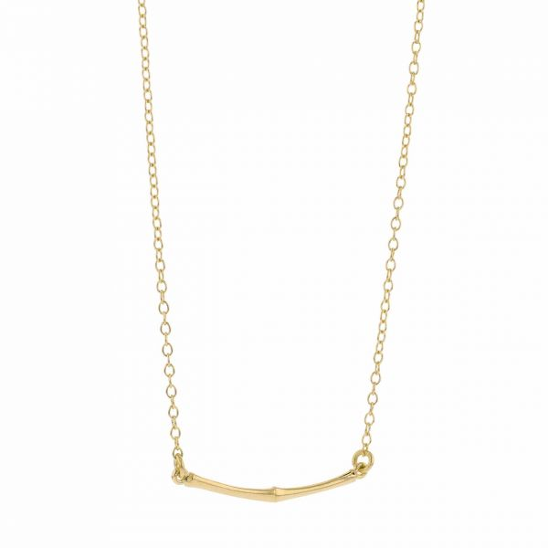 Bamboo, Point of Gravity necklace (forgylt)