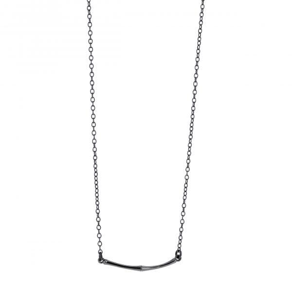 Bamboo, Point of Gravity necklace (oksidert)