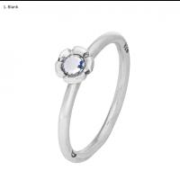 Tusenfryd sølv ring - 13 ulike farger