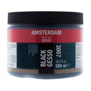 AMSTERDAM GESSO BLACK 3007 - 500ML