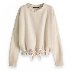 Super soft knit with sporty woven detailing