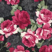 Roser på mørkeblå/svart bunn