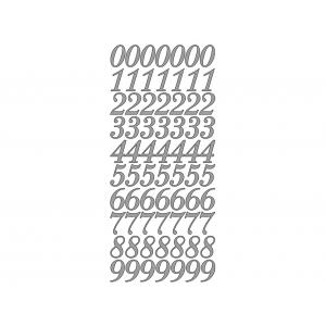 Klistremerker Tall 0-9 – Sølv