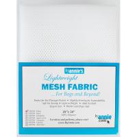 Mesh fabric hvit