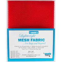 Mesh fabric rød