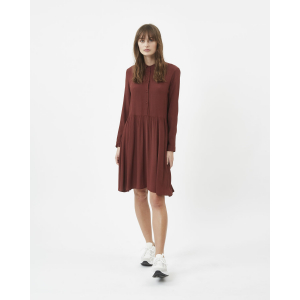 Bindie kjole med knapper vinrød