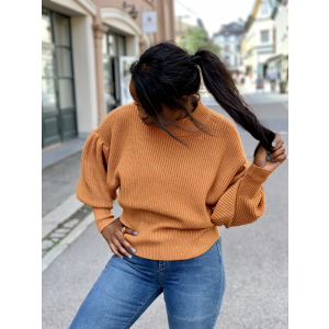 Sophie High Neck Knit - Pumpkin Spice